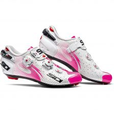 SAPATILHA SIDI WIRE CARBON AIR WOMAN BRANCA/PINK FLUO